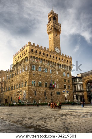 Palazzo Vecchio in Florence, Italy - stock photo
