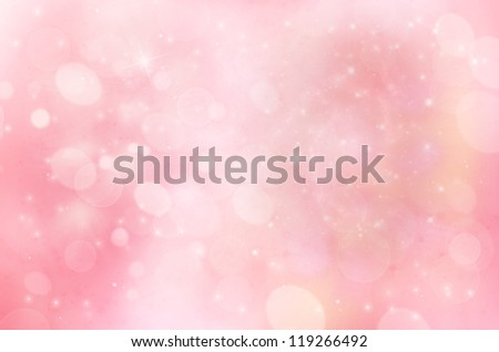 pale blue and pink winter backgroud - stock photo