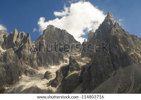 pale di san martino,dolomites,alps - stock photo