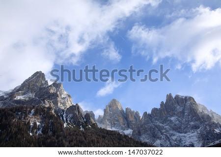 pale di san martino dolomites alps - stock photo
