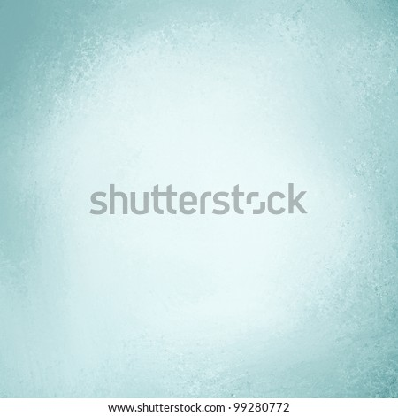 pale sky blue background with soft pastel vintage background grunge texture and light solid design white background, cool plain wall or paper, old blue painted canvas for scrapbook parchment label - stock photo