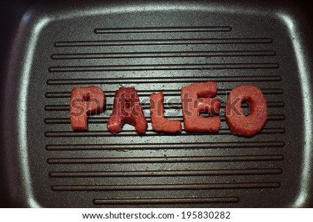 paleo diet and weight loss - stock photo