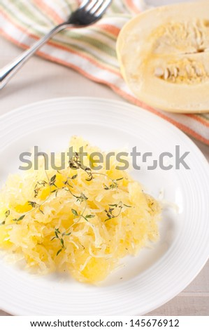 Paleo friendly and gluten free side from spaghetti squash - stock photo