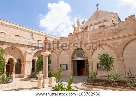 Palestin. The city of Bethlehem. The Church of the Nativity of Jesus Christ - stock photo