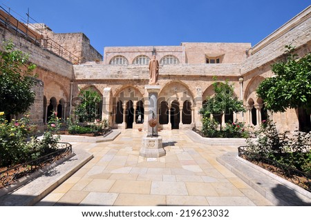 Palestin. The city of Bethlehem. The Church of the Nativity of Jesus Christ  - stock photo