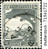PALESTINE - CIRCA 1927: A stamp printed in Palestine shows Bethlehem, the tomb of Rachel, circa 1927 - stock photo