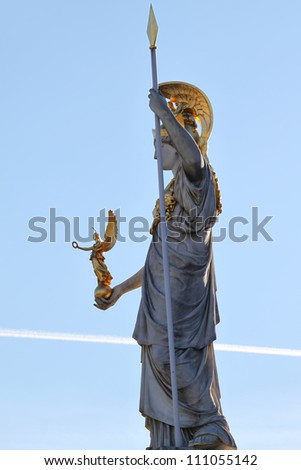 Pallas Athena in front of the Austrian Parliament in Vienna
