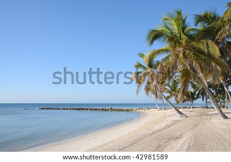 Palm Beach on Key West, Florida - stock photo