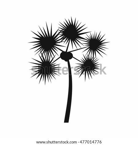 Palm chamaerops icon in simple style isolated on white background. Flora symbol