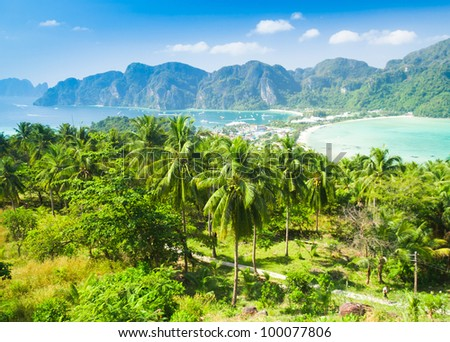 Palm Island High Viewpoint - stock photo
