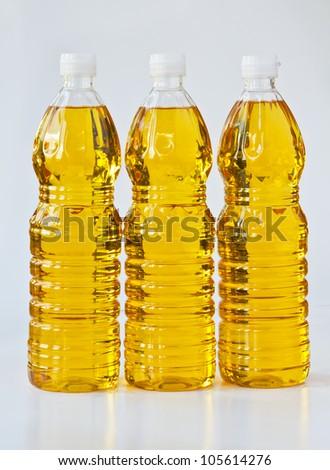 Palm oil in  bottles - stock photo