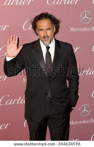 PALM SPRINGS, CA - JAN 3: Alejandro Gonzalez Inarritu arrives at the 2015 Palm Springs International Film Festival Gala at the Palm Springs Convention Center on January 3, 2015 in Palm Springs, CA. - stock photo