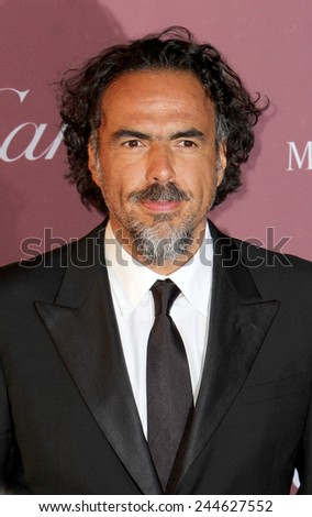 PALM SPRINGS, CA - JAN 3: Alejandro Gonzalez Inarritu arrives at the 2015 Palm Springs Film Festival Awards Gala at the Palm Springs Convention Center on January 3, 2015 in Palm Springs, CA. - stock photo