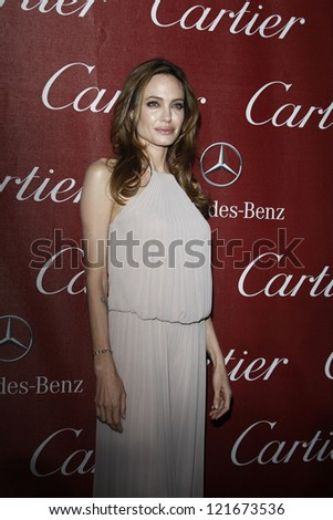 PALM SPRINGS, CA - JAN 7: Angelina Jolie at the 23rd Annual Palm Springs International Film Festival Awards Gala at the Palm Springs Convention Center on January 7, 2012 in Palm Springs, California - stock photo