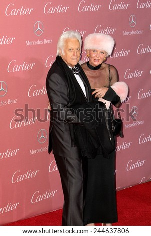 PALM SPRINGS, CA - JAN 3: Jack Jones and Eleonora Jones arrive at the 2015 Palm Springs International Film Festival Gala at the Palm Springs Convention Center on January 3, 2015 in Palm Springs, CA. - stock photo