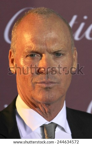 PALM SPRINGS, CA - JAN 3: Michael Keaton arrives at the 2015 Palm Springs International Film Festival Awards Gala at the Palm Springs Convention Center on January 3, 2015 in Palm Springs, CA. - stock photo
