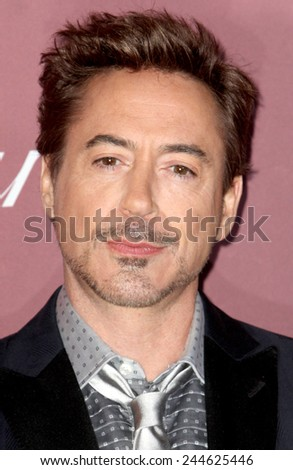 PALM SPRINGS, CA - JAN 3: Robert Downey Jr. arrives  at the 2015 Palm Springs Film Festival Awards Gala at the Palm Springs Convention Center on January 3, 2015 in Palm Springs, CA. - stock photo