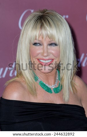 PALM SPRINGS, CA - JAN 3: Suzanne Somers arrives at the 2015 Palm Springs International Film Festival Awards Gala at the Palm Springs Convention Center on January 3, 2015 in Palm Springs, CA. - stock photo