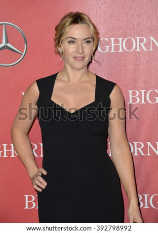 PALM SPRINGS, CA - JANUARY 2, 2016: Actress Kate Winslet at the 2016 Palm Springs International Film Festival Awards Gala - stock photo