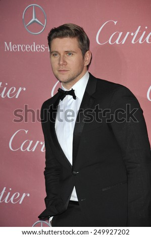 PALM SPRINGS, CA - JANUARY 6, 2015: Allen Leech at the 2015 Palm Springs Film Festival Awards Gala at the Palm Springs Convention Centre.  - stock photo