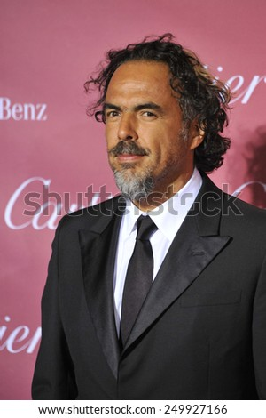 PALM SPRINGS, CA - JANUARY 6, 2015: Director Alejandro Gonzalez Inarritu at the 2015 Palm Springs Film Festival Awards Gala at the Palm Springs Convention Centre.  - stock photo