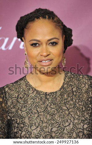 PALM SPRINGS, CA - JANUARY 6, 2015: Director Ava DuVernay at the 2015 Palm Springs Film Festival Awards Gala at the Palm Springs Convention Centre.  - stock photo