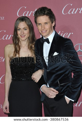 PALM SPRINGS, CA - JANUARY 3, 2015: Eddie Redmayne & wife Hannah Bagshawe at the 2015 Palm Springs Film Festival Awards Gala at the Palm Springs Convention Centre.