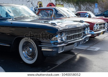 PALM SPRINGS USA FEBRUARY Stock Photo Royalty Free - Palm springs classic car show