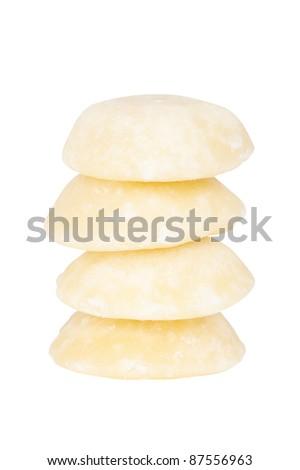 Palm Sugar Cutout - stock photo