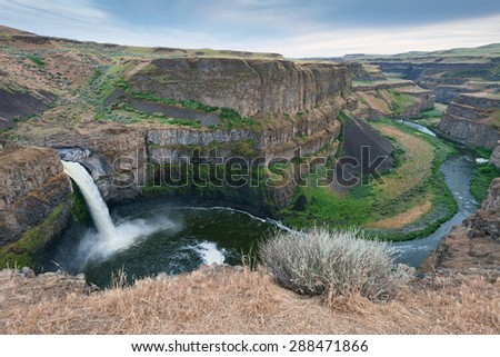 Palouse Falls, Palouse Falls State Park, Lacrosse, Washington - stock photo