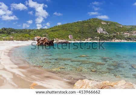 Paltsi beach in Pelio, Thessaly, Greece - stock photo