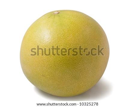 Pamella fruit isolated on te white background - stock photo