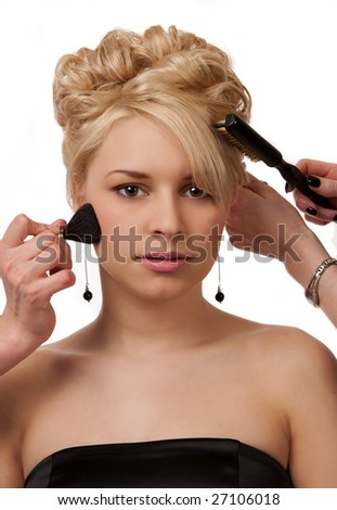 Pampered Before The Prom - stock photo
