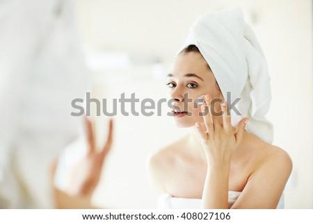 Pampering cream - stock photo