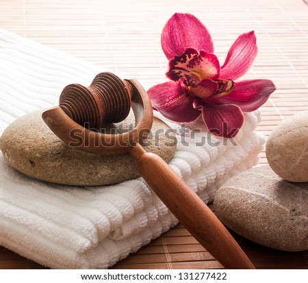 pampering retreat and natural relaxation - stock photo
