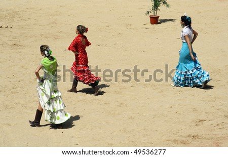 PAMPLONA, SPAIN - JULY 9: Bullfighting free festival that is celebrated in the parties in honor to San Fermin (Sanfermines celebrations) on July 9, 2009 in Pamplona, Spain. - stock photo