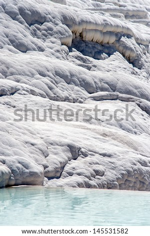 Pamukkale Hot Springs on a clear sunny day/Pamukkale Hot Springs/Pamukkale Hot Springs