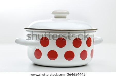 pan on the white background - stock photo