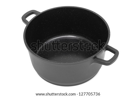 pan with non-stick coating on a white background