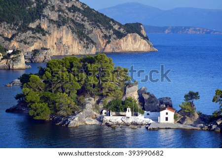 Panagia chapel in Parga, Greece