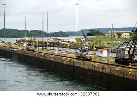 Panama Canal - Gatun Locks - stock photo