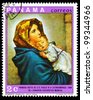 PANAMA - CIRCA 1969: A stamp printed in Panama shows Virgin and Child artist Roberto Ferruzzi, circa 1969 - stock photo