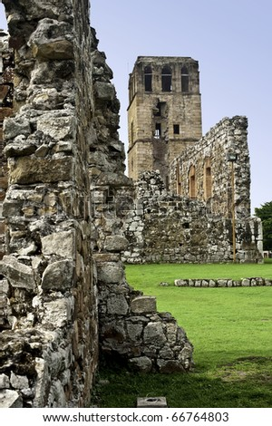 Panama Viejo Ruins, Panama City - stock photo