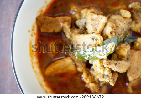 panang curry,Spicy curry food Thai style. - stock photo