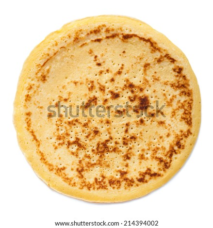 pancake isolated over white background - stock photo