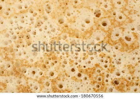 Pancake macro shot as a food background
