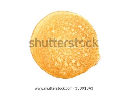 pancake on white - stock photo