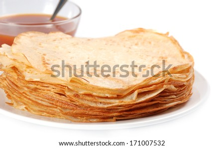 Pancake(with a clipping path)
