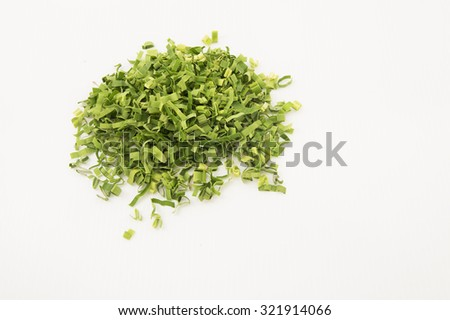 Pandan leaf or screw pine isolated on white background. The processed leaf make good herbal tea for its sweet fragrance. It has medicinal benefit in combat body heat, treat fever, headache and cough.  - stock photo