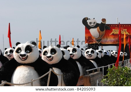 "Pandas at photocall for his new movie ""Kung Fu Panda"" at the 61st Annual International Film Festival de Cannes. May 13, 2008  Cannes, France. Picture: Paul Smith / Featureflash - stock photo"